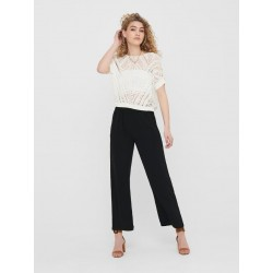 JDY TINA HW WIDE PANTS - BLACK