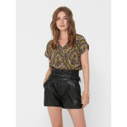 ONLY HANNA S/S BUTTON TOP -...
