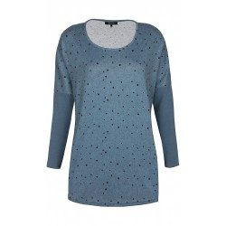 ZE-ZE L/S BLOUSE - FADED DENIM