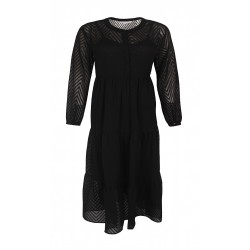 ZE-ZE PREGO L/S DRESS - BLACK