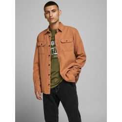 "JACK & JONES L/S ""WORKER"" SHIRT - AMBER BROWN"