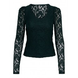 ONLY POULA L/S V NECK LACE...