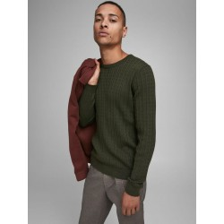 JACK & JONES CABLE CREW NECK