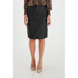FRANSA FAUX LEATHER SKIRT