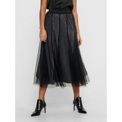 JDY MERLE CALF SKIRT - BLACK