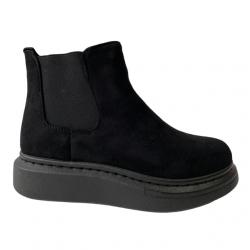 CHUNKY ANKEL BOOTS - BLACK