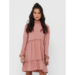 JDY KIRA L/S DRESS - OLD ROSE