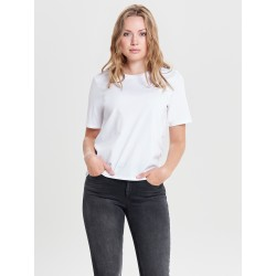 ONLY ONLY LIFE S/S TOP - WHITE