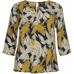 NO. 1 BY OX LEAF BLOUSE 3/4