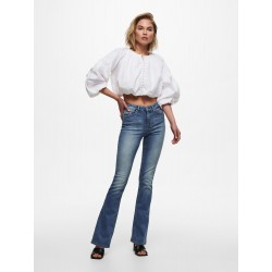 ONLY BLUSH MID FLARED JEANS