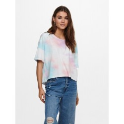 ONLY ZOEY LIFE TIE DYE TOP S/S