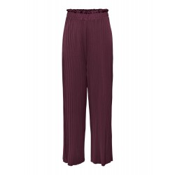 ONLY PLISSE PANTS - FIG