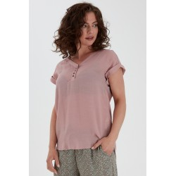 FRANSA S/S BLOUSE - MISTY ROSE