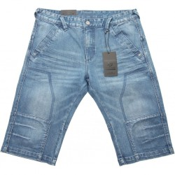 FINESMEKKER Blue denim shorts