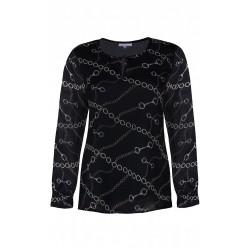 ZE-ZE Bluse med kæde print